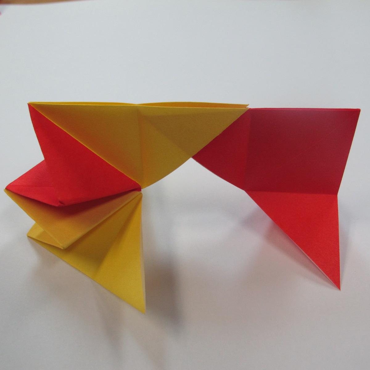 วิธีการพับกระดาษเป็นดาวหกแฉกแบบโมดูล่า 017