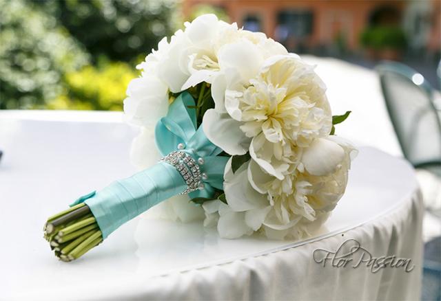 Bouquet Sposa Tiffany.Bouquet Peonie Nastro Tiffany Strass Ligia Flickr