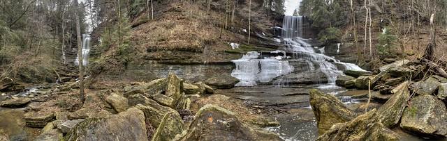 Twelve Corners Hollow Falls, Dry Creek Falls, Jackson County, Tennessee