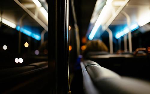 bus metro seattle reflection bokeh canon depthoffield dof commute window transportation canoneos5dmarkiii sigma35mmf14dghsmart johnwestrock