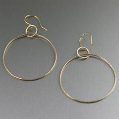 Chased Nu Gold Hoop Earrings