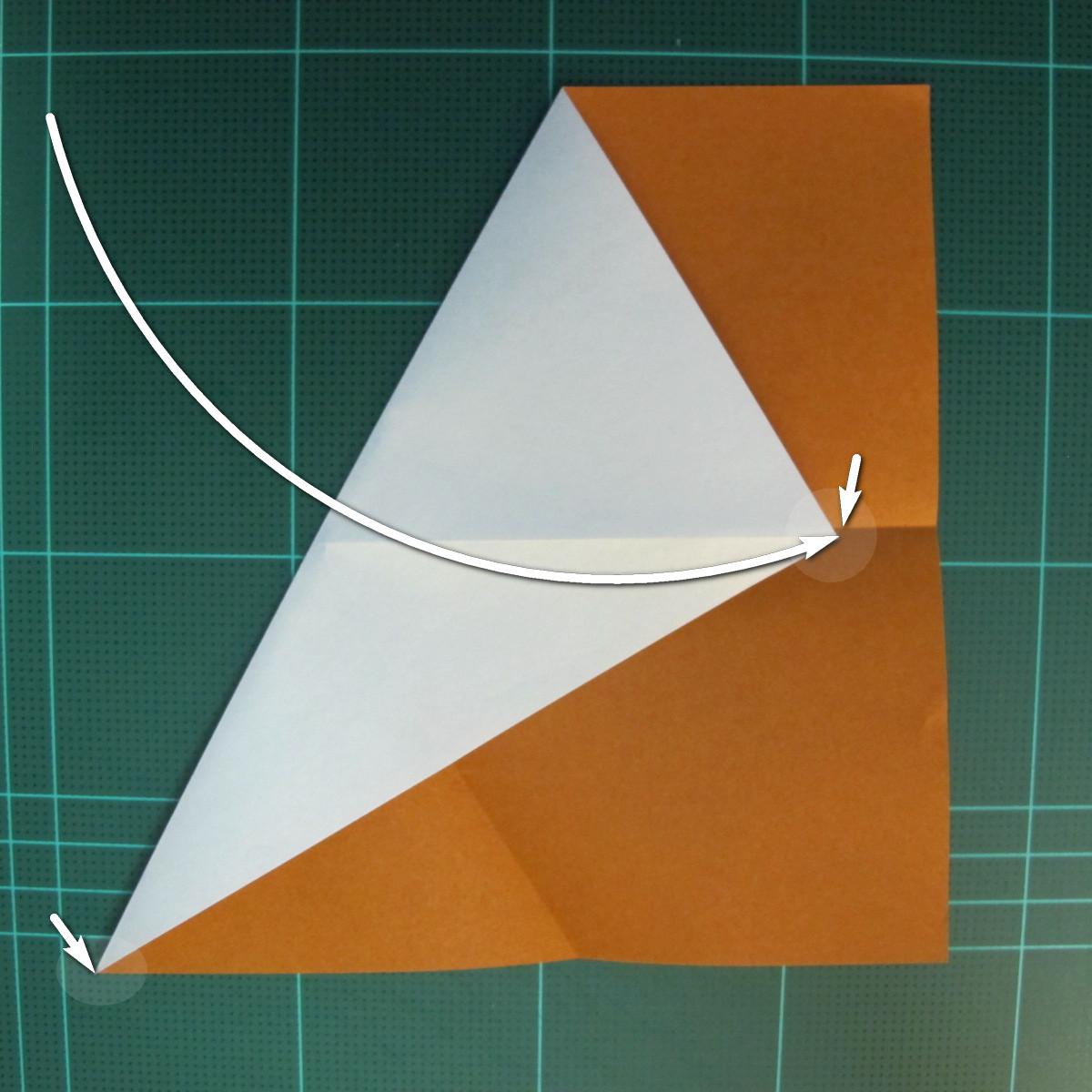 วิธีการพับกระดาษเป็นรูปกบ (แบบโคลัมเบี้ยน) (Origami Frog) 006