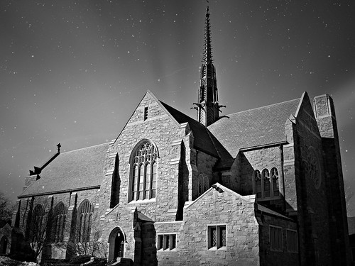 flickr foto photo image capture picture photography bw sony architecture church building beauty beautiful pretty stars sky sunset twilight evening winter massachusetts sonydscw300 blackandwhite skyporn stjohntheevangelistchurch 133northmainst attleboromassachusetts newengland