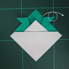วิธีพับกระดาษเป็นรูปหมวกซามุไร (Origami Samurai Hat) 008