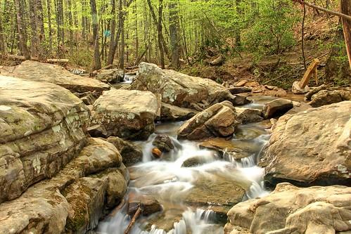 longexposure trees rock spring al birmingham stream rapids boulders hoover preserve mossrock mossrockpreserve