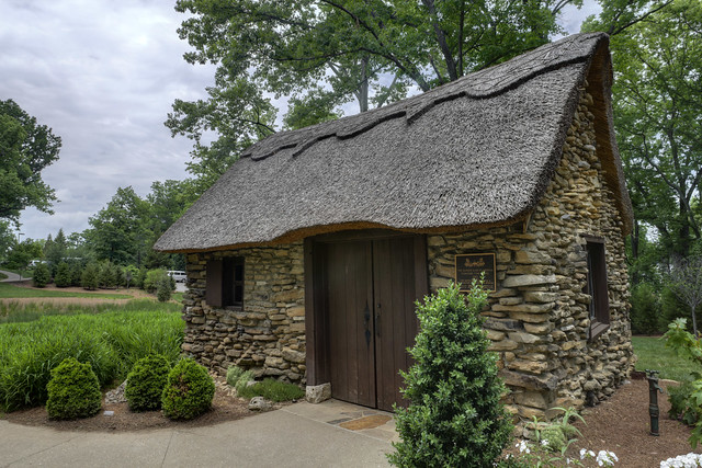 Thatched roof shed, Cheekwood Botanical Garden, Nashville, Tennessee