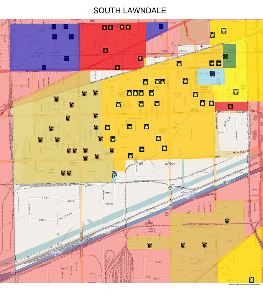 South Lawndale Updated Gang Map 2015 | Map of South Lawndale ...