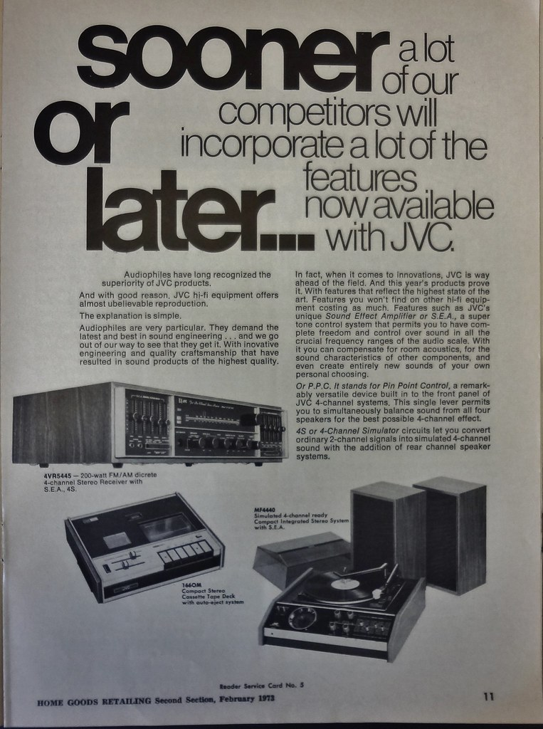 JVC Hi-Fi Magazine Ad 1970s | Howard | Flickr