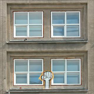 Fenêtres de l'Alexanderhaus de Peter Behrens (Alexanderplatz, Berlin)
