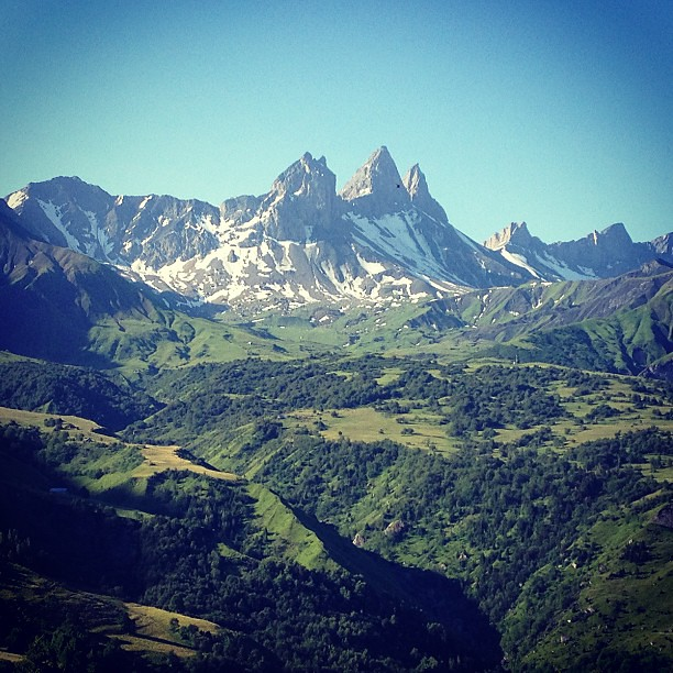 french #alps #mountain #mountains #sky #grass #forest #tree