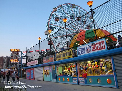 Wonder Wheel and Games on West 12th St, Coney Island | by me-myself-i