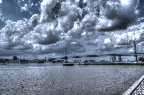new bridge architecture river landscape franklin nikon suspension ben pennsylvania d camden scenic historic jersey delaware hdr waterscape 7000 d7000 jtleagles philadedelphia