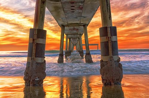 ocean sanfrancisco california blue sunset pier pacific pacifica sfbay redpink pacificabeach pacificapier canoneos5dmarkiii kptripathi ef2470mmf28liiusm
