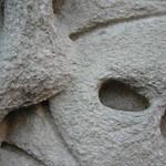 Close up of NY Library stonework