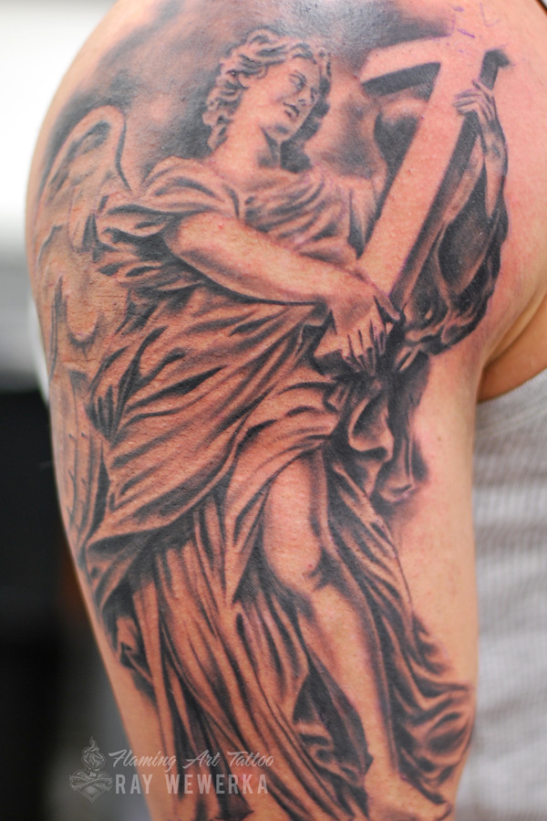 6459282286a13 Angel and Cross Tattoo | www.facebook.com/FlamingArtTattoo/ | Flickr