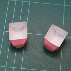 วิธีทำโมเดลกระดาษตุ้กตาคุกกี้รัน คุกกี้รสสตอเบอรี่ (LINE Cookie Run Strawberry Cookie Papercraft Model) 023