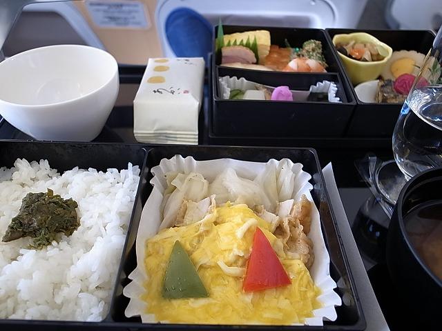 <p>c)和食をチョイス</p>