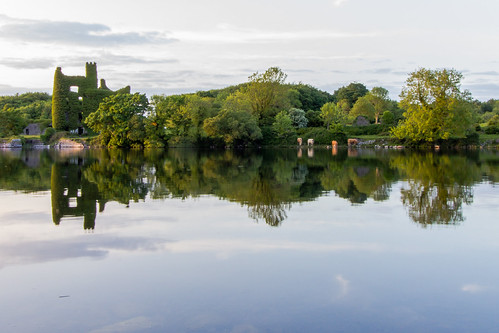 ireland sunset castle landscape rivercorrib menlocastle