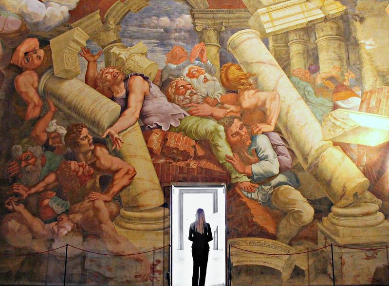 Giulio Romano, et al. Fall of the Giants, Sala dei Giganti, Palazzo Te, Mantua. 1532-34. detail