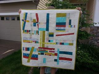 modern edges art quilt