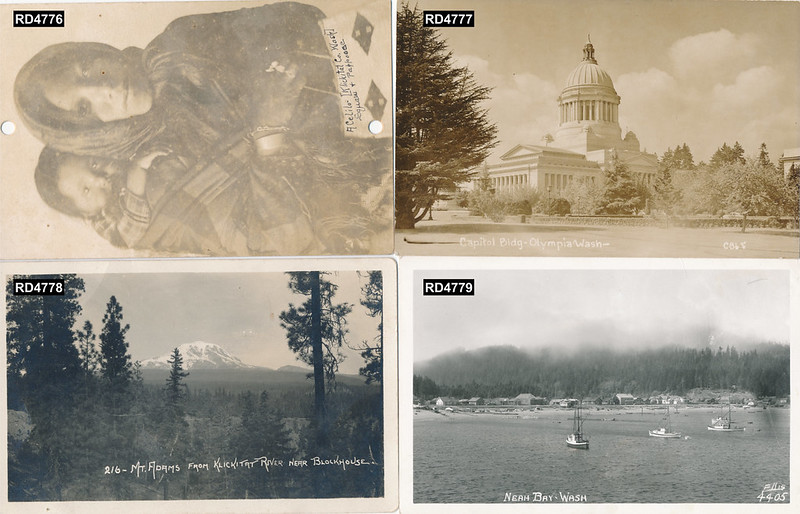 Postcards group 02 4776, 4777, 4778, 4779 Numbers Added