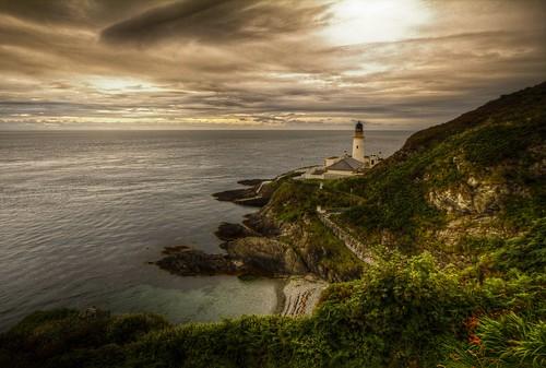 sunset lighthouse beach clouds landscape dusk head douglas isleofman waterscape douglasharbour
