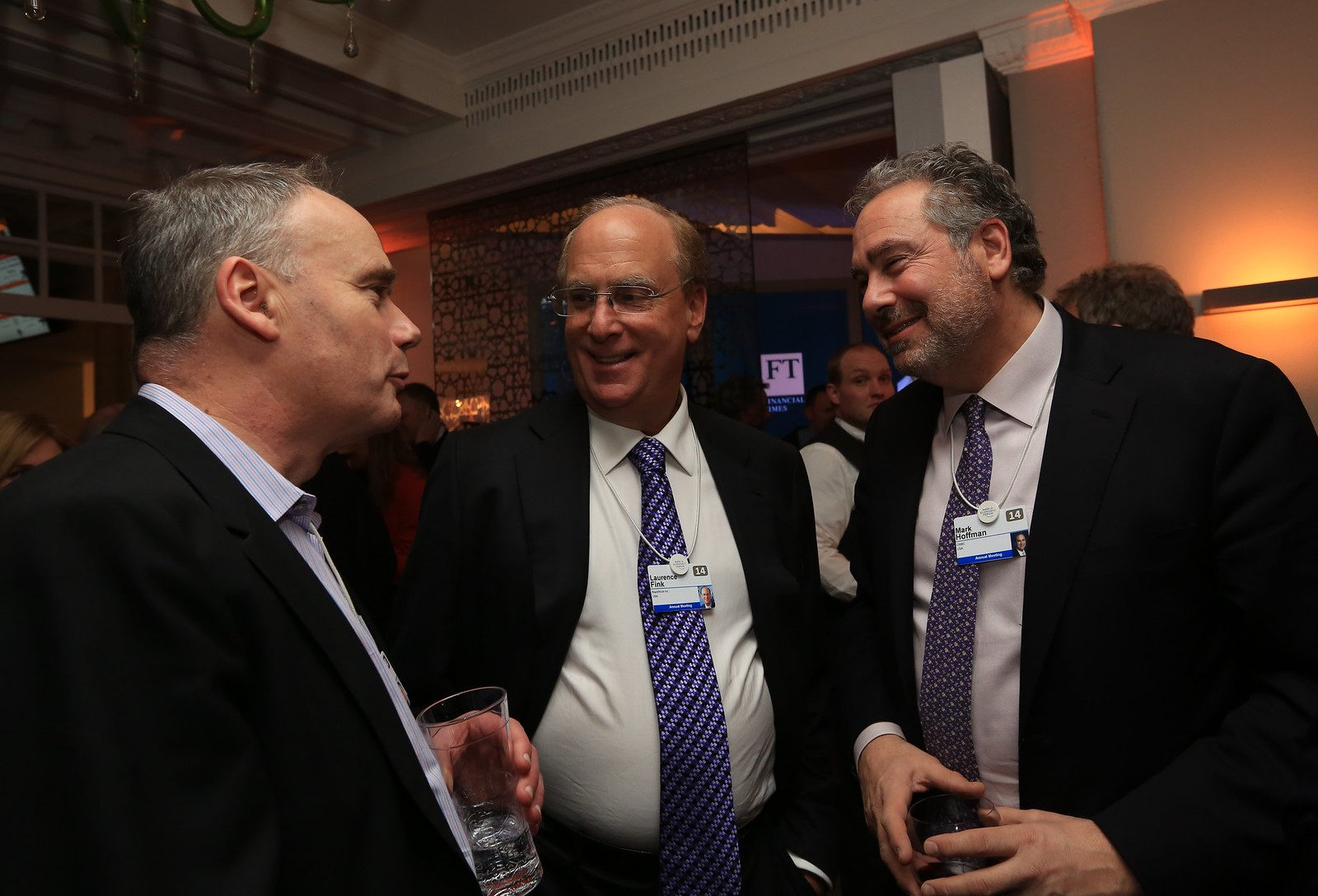 John Fallon, CEO, Pearson, Larry Fink, CEO, BlackRock and Mark Hoffman, President, CNBC
