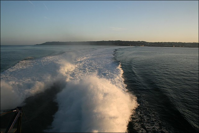 Departing Guernsey