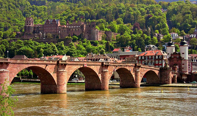 Germany, Heidelberg, Blick auf die Alte Brücke und das Schloss, (serie), 70164/3371