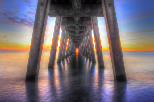 venice sunset reflection water canon pier hdr 60d