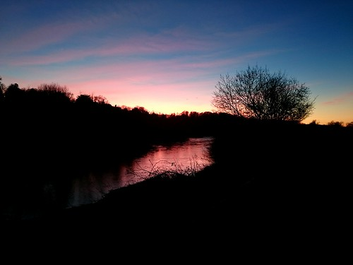 pink sunset sky nature water river countryside herefordshire hereford riverwye