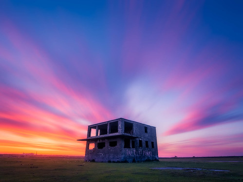pink sunset abandoned cornwall colours panasonic ultrawide hdr controltower airfield davidstow inthepink ortoneffect gx7 olympus918mmf4056