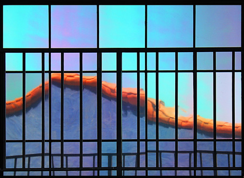 street city blue roof light arizona abstract reflection building texture window beauty lines architecture fence buildings tile outdoors mirror design town colorful downtown pretty pattern bright tucson outdoor line laplacita