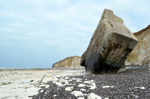 Il bunker sulla spiaggia di Ste Marguerite sur Mer