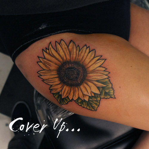 c13d67cd2 Sun flower cover up Tattoo | Chris Hatch Tattoo Artist www.i… | Flickr