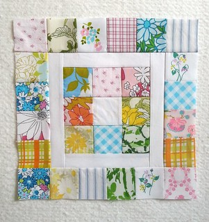 Vintage Sheets Block in Block for Tammie