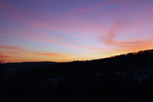sunset usa tree clouds landscape vermont quechee
