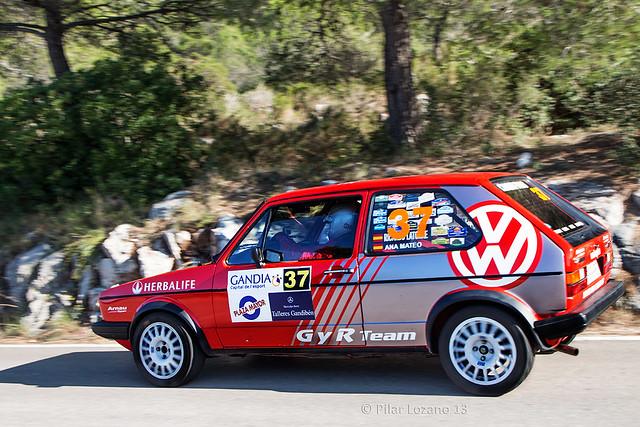 Volkswagen Golf en acción.