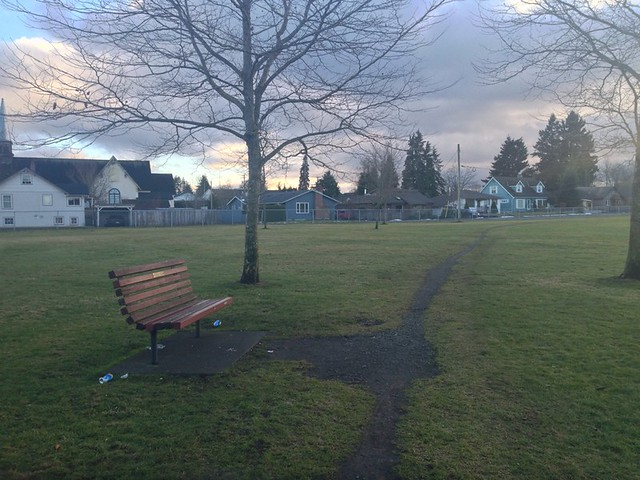 Park bench in Courtenay