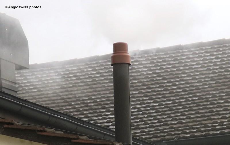 Smoking Chimney in Langendorf