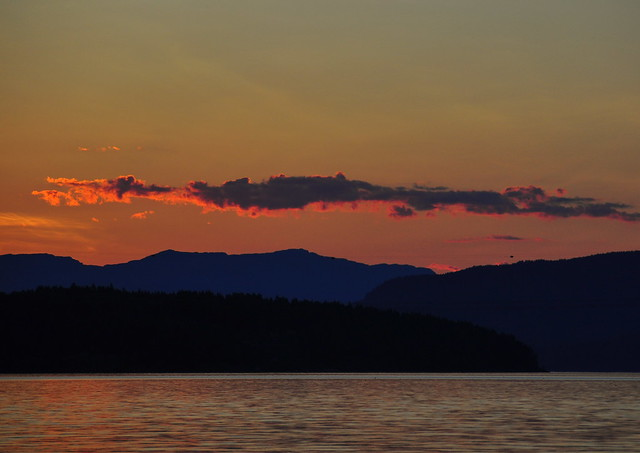Sunset at Norsjø, Telemark, Norway