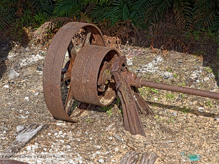 Old Railroad Gear outside Brooksville Railroad Depot | by AL904