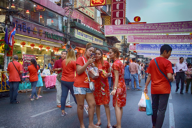 Faces in the Crowd. Chinese New Year 2015. Bangkok