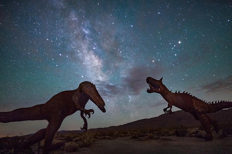 Jurassic Park at Night