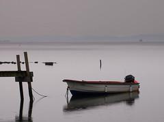 Boat in rain