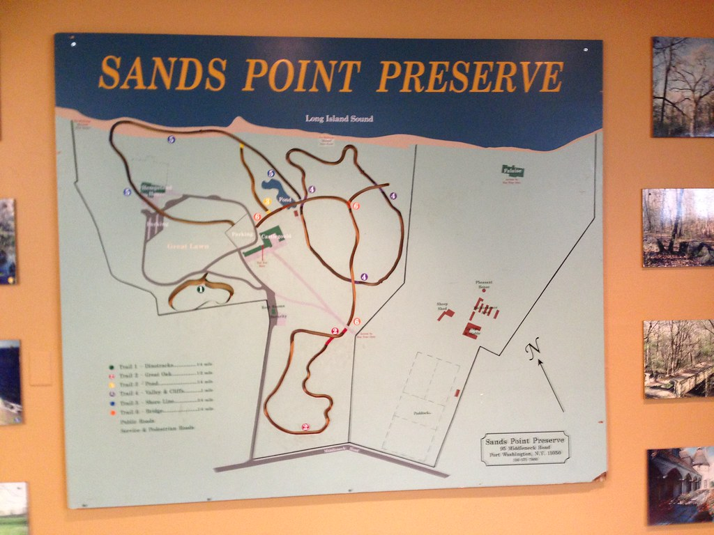 Sands Point Preserve: Trail Map | www.sandspointpreserve.org ... on great neck map, long island sound map, old saybrook preserve map, old westbury gardens map,
