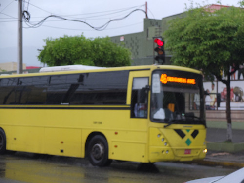 Rain, with a bus behind it | by Ian Tindale
