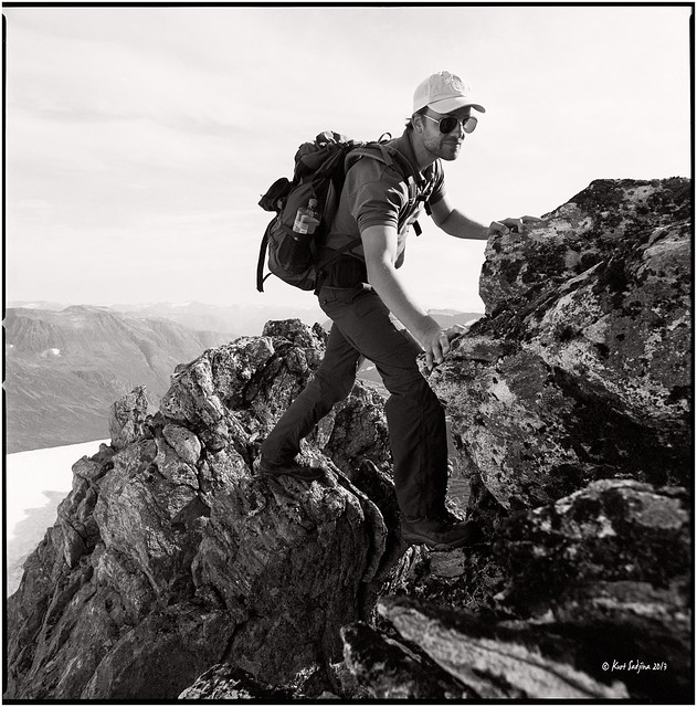 On the way up to the Skruven_Hasselblad