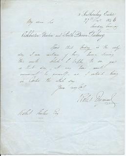 Ashburton, Newton and South Devon Railway large letterhead re meeting 1846 | by ian.dinmore
