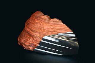 Peugeot-Design-Lab-Onyx-Sculpture-Red-Ferrous-Jasper-&-Steel-002
